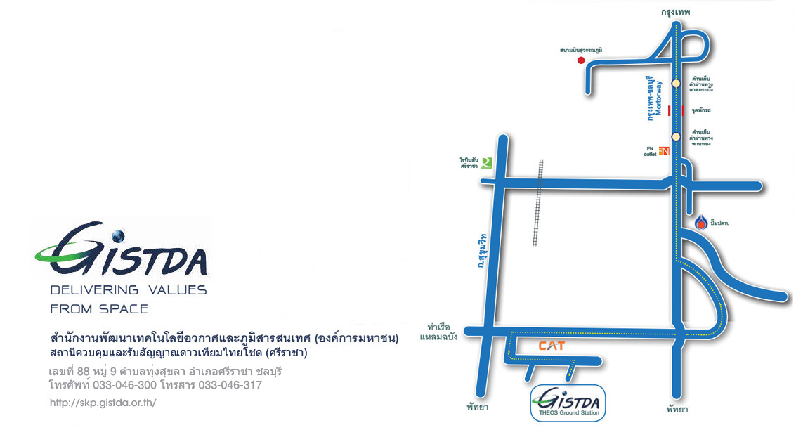 GISTDA Space Krenovation Park Map
